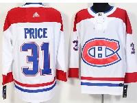 Mens Montreal Canadiens #31 Carey Price White Away Adidas Jersey