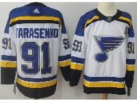 Mens Nhl St.louis Blues #91 Vladimir Tarasenko (a) White Adidas Jersey