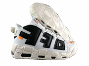 Supreme Air Nike More Uptempo Off Running Shoes White And Black Colour
