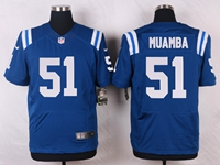 Mens Nfl Indianapolis Colts #51 Muamba Blue Elite Nike Jersey