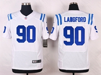Mens Nfl Indianapolis Colts #90 Kendall Langford White Elite Nike Jersey