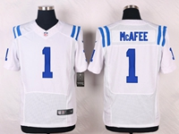 Mens Nfl Indianapolis Colts #1 Pat Mcafee White Elite Nike Jersey