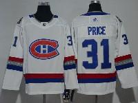 Mens Montreal Canadiens #31 Carey Price 2017 Nhl 100 Classic Breakaway White Adidas Jersey