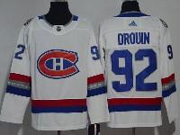 Mens Montreal Canadiens #92 Jonathan Drouin 2017 Nhl 100 Classic Breakaway White Adidas Jersey