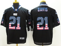 Mens Nfl Indianapolis Colts #21 Vontae Davis Usa Black Flag Fashion Elite Jerseys