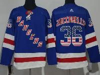 Mens Nhl New York Rangers #36 Mats Zuccarello Usa Flag Blue Adidas Jersey