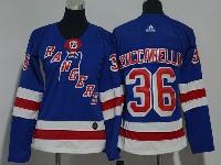 Women Nhl New York Rangers #36 Mats Zuccarello Blue Adidas Jersey