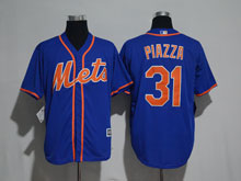 Mens Majestic New York Mets #31 Mike Piazza Blue Cool Base Jersey