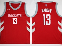Mens 2017-18 Season Nba Houston Rockets #13 James Harden Red Swingman Nike Jersey