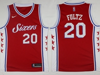 Mens 2017-18 Season Nba Philadelphia 76ers #20 Markelle Fultz Red Swingman Nike Jersey