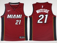 New Mens Nba Miami Heat #21 Hassan Whiteside Red Nike Jersey