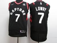 New Mens Nba Toronto Raptors #7 Kyle Lowry Black Nike Jersey