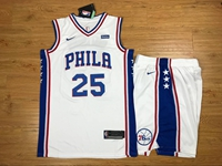 New Mens Nba Philadelphia 76ers #25 Ben Simmons White Nike Suit Jersey