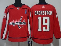 Mens Nhl Washington Capitals #19 Nicklas Backstrom (a) Red Adidas Jersey