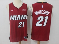 Mens Nba Miami Heat #21 Hassan Whiteside Red Nike Player Jersey