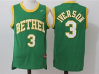 Mens Nba Philadelphia 76ers #3 Allen Iverson Green High School Jersey