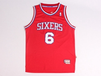 Mens Nba Philadelphia 76ers #6 Dr.j Red Jersey