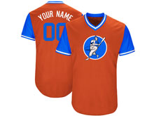 Mens Womens Youth Mlb Houston Astros Custom Made Orange 2017 Players Weekend Cool Base Jersey