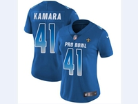 Women Nfl New Orleans Saints #41 Alvin Kamara Blue 2018 Pro Bowl Vapor Untouchable Jersey