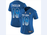 Women Nfl Minnesota Vikings #19 Adam Thielen Blue 2018 Pro Bowl Vapor Untouchable Jersey