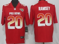 New Nfl Jacksonville Jaguars #20 Jalen Ramsey Red Nike Royal 2018 Pro Bowl Limited Jersey