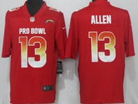 New Mens San Diego Chargers #13 Keenan Allen Red Nike Royal 2018 Pro Bowl Limited Jersey