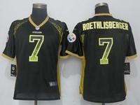 Women Nfl Pittsburgh Steelers #7 Ben Roethlisberger Black Drift Fashion Elite Nike Jersey