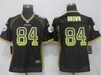Women Nfl Pittsburgh Steelers #84 Antonio Brown Black Drift Fashion Elite Nike Jersey