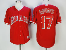 Mens Mlb Los Angeles Angels #17 Shohei Ohtani Red Cool Base Jersey