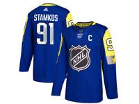 Mens Tampa Bay Lightning #91 Steven Stamkos 2018 Nhl All-star Game Breakaway Adidas Blue Jersey