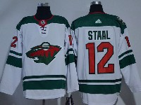 Mens Nhl Minnesota Wild #12 Staal White Adidas Jersey