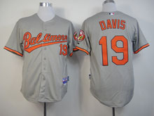 Mens Mlb Baltimore Orioles #19 Chris Davis Gray Cool Base Jersey
