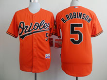 Mens Mlb Baltimore Orioles #5 B.robinson Orange Cool Base Jersey