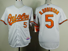 Mens Mlb Baltimore Orioles #5 B.robinson White Cool Base Jersey