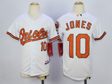 Youth Mlb Baltimore Orioles #10 Adam Jones White Cool Base Jersey