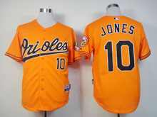 Mens Mlb Baltimore Orioles #10 Adam Jones Orange Cool Base Jersey