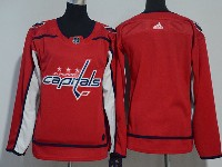 Women Youth Nhl Washington Capitals Blank Red Adidas Jersey