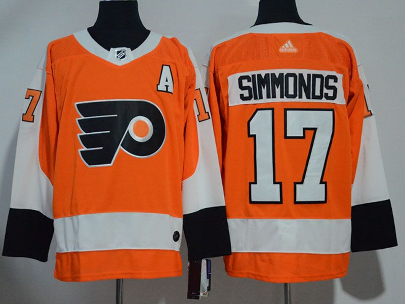 Mens Philadelphia Flyers #17 Wayne Simmonds Orange Adidas Jersey