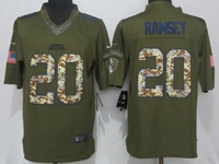 Mens Nfl Jacksonville Jaguars #20 Jalen Ramsey Green Salute To Service Nike Limited Jersey