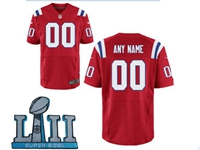 Mens Women Youth New England Patriots 2018 Super Bowl Lii Bound Red Elite Jersey