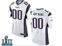 Mens Women Youth New England Patriots 2018 Super Bowl Lii Bound White Elite Jersey