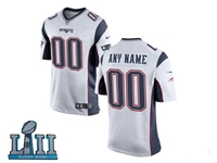 Mens Women Youth New England Patriots 2018 Super Bowl Lii Bound White Game Jersey