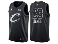 New Mens Nba 2018 All Star Cleveland Cavaliers #23 Lebron James Black Jersey