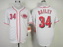 Mens Mlb Cincinnati Reds #34 Bailey White Cool Base Jersey