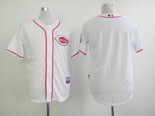 Mens Majestic Cincinnati Reds Blank White Cool Base Jersey