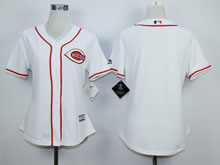Women Majestic Cincinnati Reds Blank White Cool Base Jersey