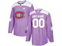 Mens Women Youth Nhl Montreal Canadiens (custom Made) Purple Fights Cancer Adidas Current Player Jersey