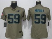 Women Nfl Carolina Panthers #59 Luke Kuechly Green Olive Salute To Service Elite Jersey