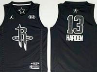 New Mens Nba 2018 All Star Houston Rockets #13 James Harden Black Jersey