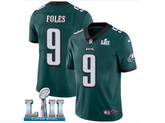 Mens Women Youth Nfl Philadelphia Eagles #9 Nick Foles Green 2018 Super Bowl Lii Bound Vapor Untouchable Limited Jersey